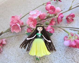 Flower Fairy Doll, Miniature Fairy, Fairy Ornament, Fairy Doll, Christmas fairy tree ornament, Handmade Fairy Doll