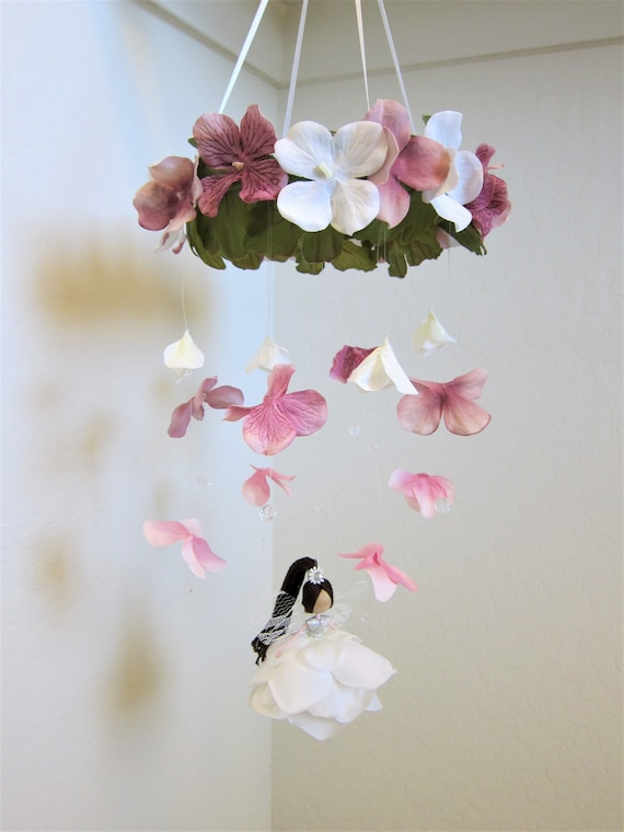 Flower mobile nursery flower fairy mobile floral mobile etsy image 0 mightylinksfo