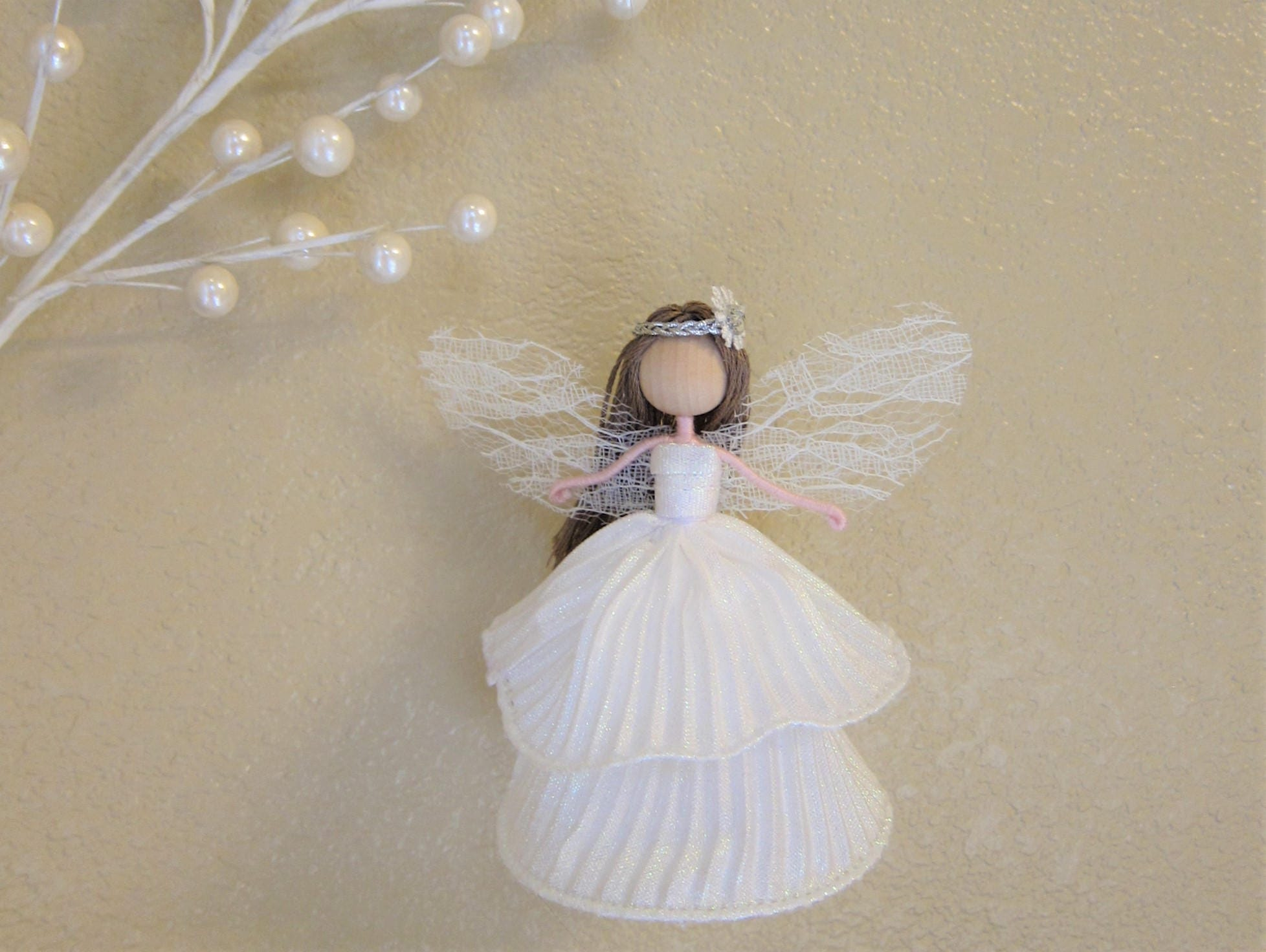 Christmas Fairy Tree Topper Angel Tree Topper White Angel