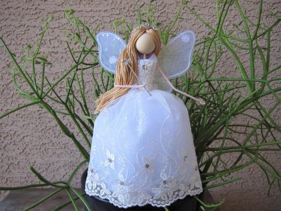 image 0 - Christmas Fairy Tree Topper White Angel Tree Topper Etsy