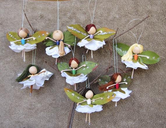 image 0 - Flower Fairy Dolls Miniature Fairies Fairy Ornaments Etsy