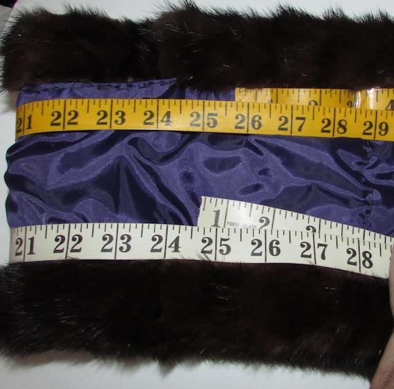 Beautiful pair of brown blackbroadtail real mink fur cuffs  cuffs of real black brown mink fur and broadtail