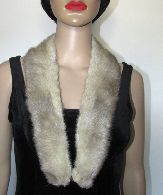 Super shawl shawl silver gray real mink fur collar