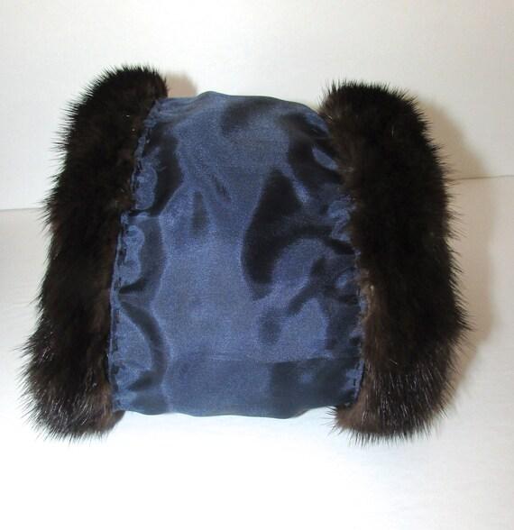 one pair of dark brown real genuine fox fur cuffs nylon lining for jacket coat
