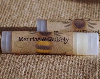 Berries and Bubbly Lip Balm || Organic Lip Balm