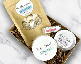New Mommy Rescue Set || Postpartum Care || Baby Shower Gift || Organic Postpartum || Anniversary || Mother's Day