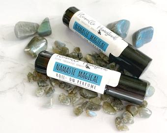 Namaste Magical || Organic Perfume || Roll-On Perfume || Perfume Oil || Genuine Labradorite || Crystal Perfume || Mother's Day