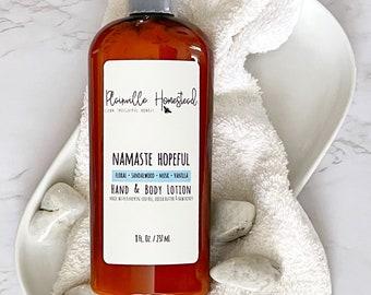 Namaste Hopeful Body Lotion || Floral || Musk || 8 oz || Organic Lotion || Hand & Body Lotion