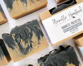 Namaste Protected Soap || Crystal Soap || Smoky Quartz || Protection || Grounding || Palm-Free Soap || Crystal Healing Soap