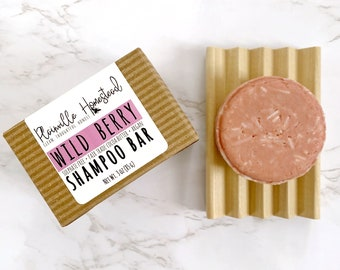 Wild Berry Shampoo Bar || Sulphate Free Shampoo || Concentrated Shampoo