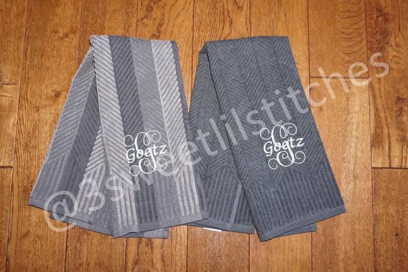 Personalized Terry Cloth Kitchen Towels 2 Pack Food Network Etsy
