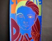 Wall Art, Original Silkscreen Art Poster, Duality Print