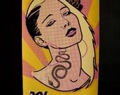 Wall Art, Original Silkscreen Art Poster, Pleasure Print