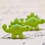 Lime Green Dinosaur Earrings, Stegosaurus Cute Dino Jewelry, Posts on Stainless Steel, Sensitive Ears Bright Green Studs
