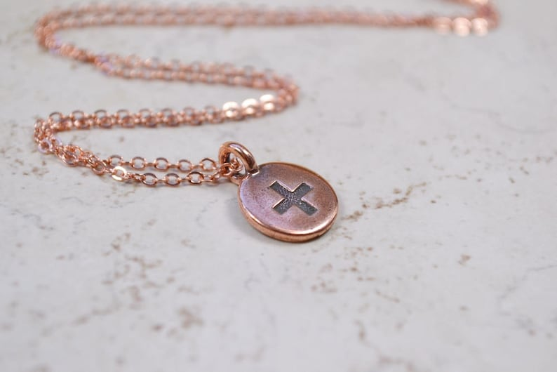 Good Vibes Necklace Positive Thoughts Necklace Copper Plus image 0