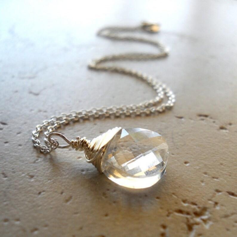 White Crystal Necklace White Diamond Swarovski Crystal image 0