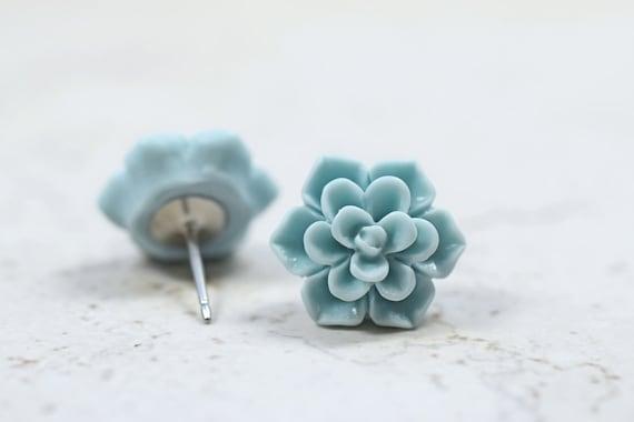 Succulent stud earrings