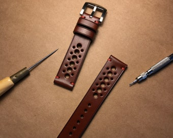 8e980d65e Whiskey Classic Vintage Rally Racing Watch Strap, Handmade Watch Strap, Leather  Watch Strap 20mm, 22mm, 24mm