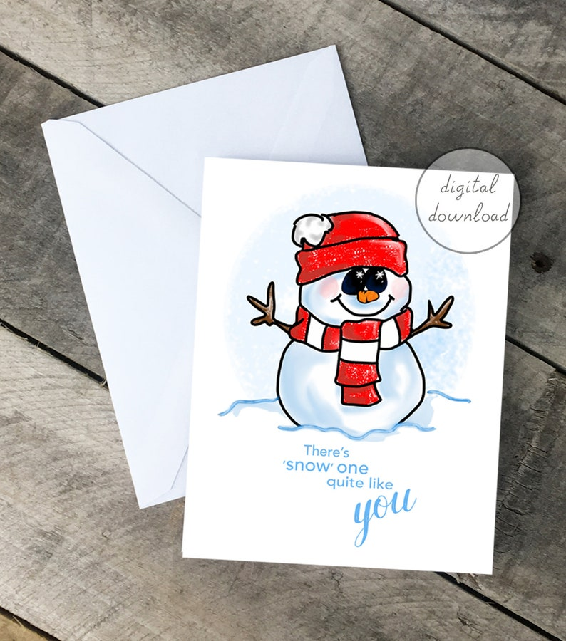 photograph relating to Printable Notecard named Printable Notecard, Snowman Card, Encouragement Card, Snow 1 which includes yourself, Winter season, Snow, Xmas, Electronic Notecard