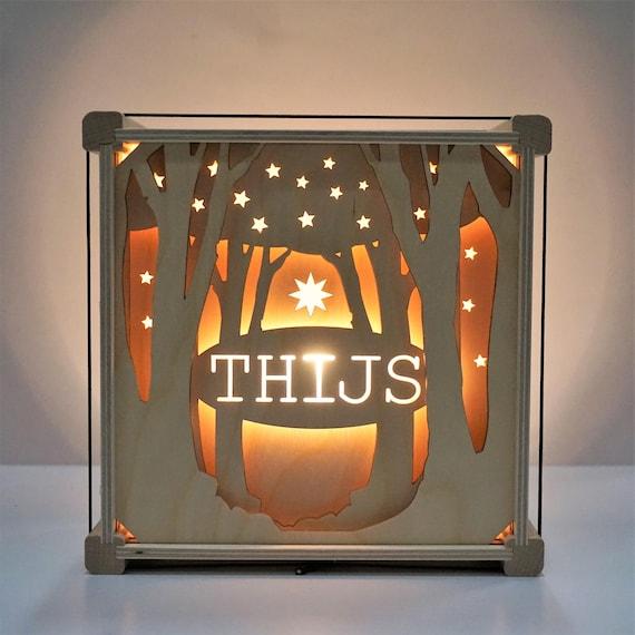 lampe mit namen unter den b umen etsy. Black Bedroom Furniture Sets. Home Design Ideas