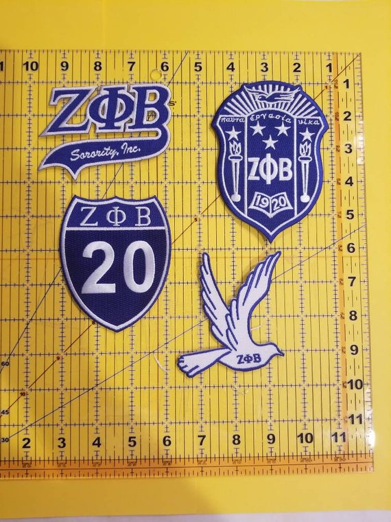 Zeta Phi Beta New Image Dove Iron-On Patch
