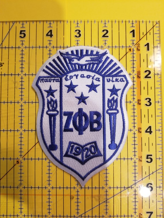 "Zeta Phi Beta 5/"" Crest Patch FREE SHIPPING!!!"