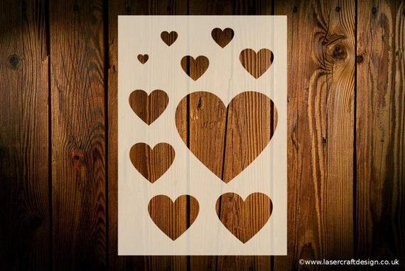Liebe Herz Schablone verschiedene Größen wiederverwendbar | Etsy