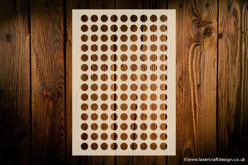 Various Stencil Sizes Reusable Flexible Arts Crafts Circles Stencil 9 Circles