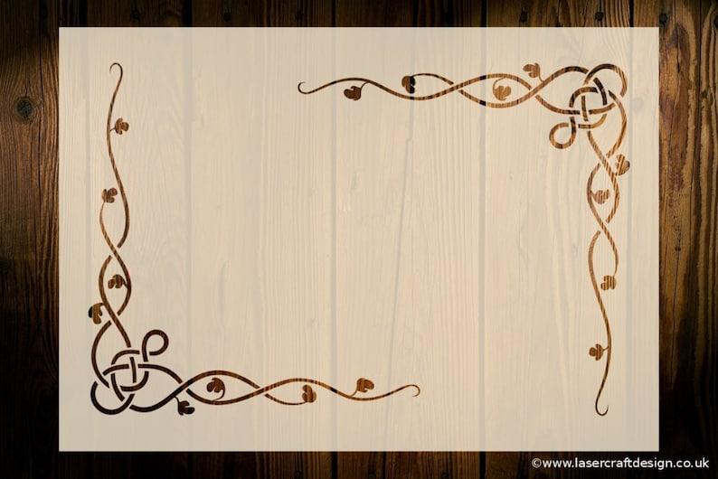 Celtic Knot Stencil Reusable Circular Pagan Scottish Art Craft Wood Signs DIY #2
