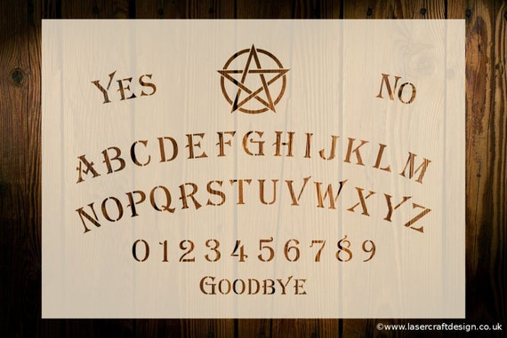 Ouija Board Stencil Various Sizes Reusable Paint Art