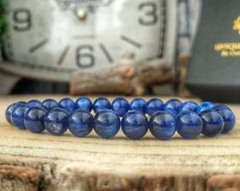 Kyanite bracelet, High graded Kyanite, AAAAA Kyanite beaded bracelet, 8 mm Kyanite, Very high quality Kyanite, Luxury gift for him and her