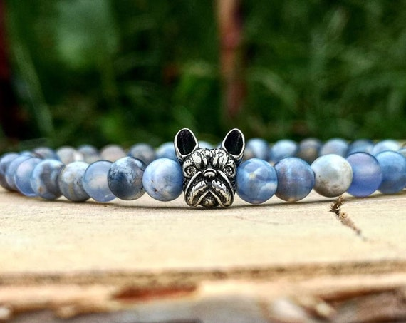 Dog bracelet, Bulldog bracelet, Animal bracelet, Bracelet for men and women, Birthday gift, Gift for him and her, Beaded bracelet