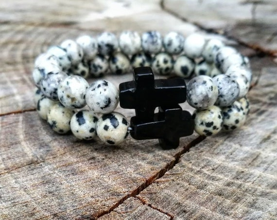 Cross bracelet, Crucifix bracelet, Religion bracelet, Men's bracelet, Men bracelet, Gentleman bracelet, Christian bracelet, Hope bracelet