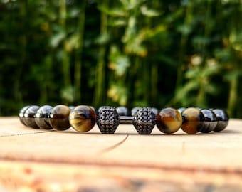 Fitness bracelet, Dumbbell bracelet, Bracelet for men and women, Fitness gift, Fitness tech, Beaded bracelet for men and women, Gym gift