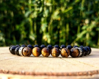 Men bracelet, Women bracelet, Basic bracelet, Beaded bracelet, Gift holidays, Tiger eye bracelet, Fashion