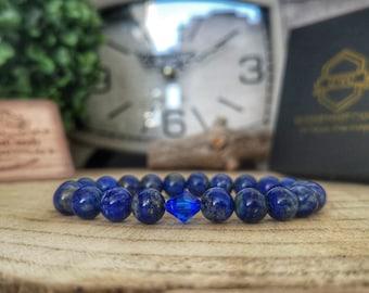 Swarovski Majestic Blue bracelet, Lapis Lazuli bracelet, Gift for her, Swarovski jewelry, Blue Swarovski, Gift ideas, Women bracelet
