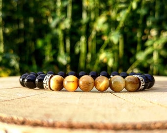 Birthday gift for him and her, Beaded bracelet, Tiger eye bracelet, Holiday gift, Friendship gift, Bracelet for him and her