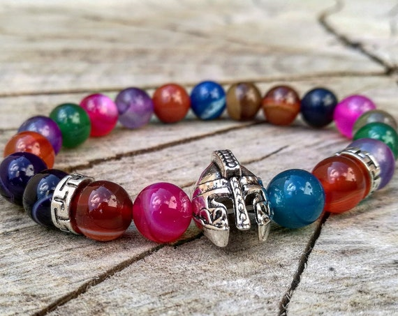 Mens viking bracelet, Multi beaded bracelet, Gladiator bracelet, Spartan bracelet, Beaded bracelet, Viking jewelry, Multi viking bracelet
