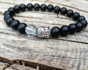 Buddha bracelet for men and women, Black beaded bracelet, Zen bracelet, Bracelet for men, Bracelet for women, Meditation bracelet