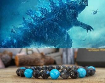 Godzilla bracelet, Godzilla handmade jewelry, Godzilla vs Kong movie bracelet, Mens perfect gift, Women's perfect gift, Movie bracelet