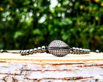 Black shell luxury shamballa bracelet for her, Beaded shamballa, Gift bracelet, Gift shamballa