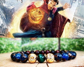 Dr. Strange marvel bracelet, Marvel gift bracelet, Marvel jewelry, Marvel comics gift for men and women, Beaded Doctor Strange bracelet