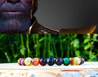 Infinity bracelet, Infinity stones, Thanos marvel bracelet, Comic bracelet, Thanos infinity gauntlet, Gift men, Marvel gift, Birthday gift