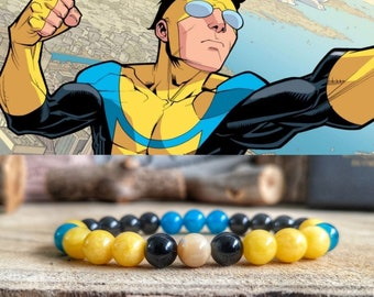 Invincible comic bracelet, Mark Grayson bracelet, Invincible jewelry, Comic Mark Grayson, Omni man, Invincible gift for him and her