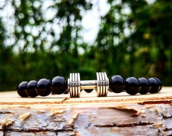Dumbbell bracelet for men and women, Fitness bracelet, Gym bracelet, Fitness jewelry, Gym jewelry, Fitness gift