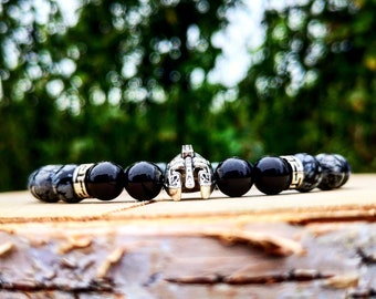 Gladiator bracelet, Helmet bracelet, Spartan bracelet, Men bracelet, Women bracelet, Beaded bracelet, Immortal bracelet, Fighter bracelet