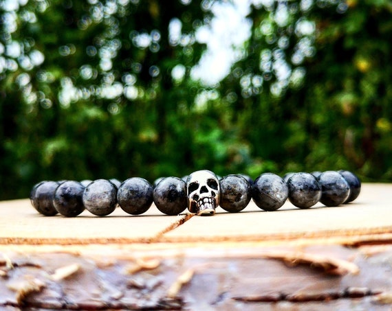 Skull bracelet, Men bracelet, Men's bracelet, Beaded bracelet, Mens fashion, Women bracelet, Girls bracelet, Gentleman bracelet