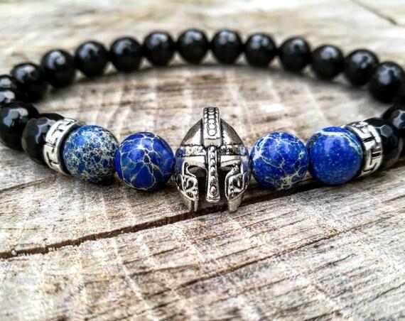 Gladiator bracelet, Helmet bracelet, Spartan bracelet, Mens bracelet, Women bracelet, Beaded bracelet, Immortal bracelet, Fighter bracelet