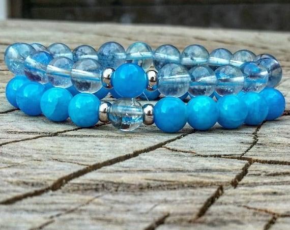 Couples bracelet, Friendship bracelet, Mens bracelet, Women bracelet, Blue bracelet for men and women, Valentine gift, Anniversary gift