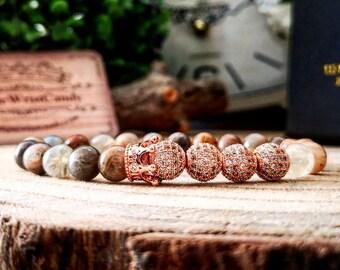 Rose gold women's bracelet, Crown bracelet for her, Luxury gift, Gift for her, Gift for mother, Lady bracelet, Perfect gift bracelet